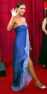 Halle Berry Strapless Gowns