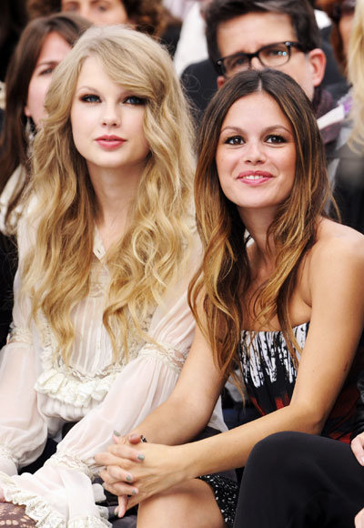 Milan Fashion Week - Roberto Cavalli Show - Taylor Swift and Rachel Bilson