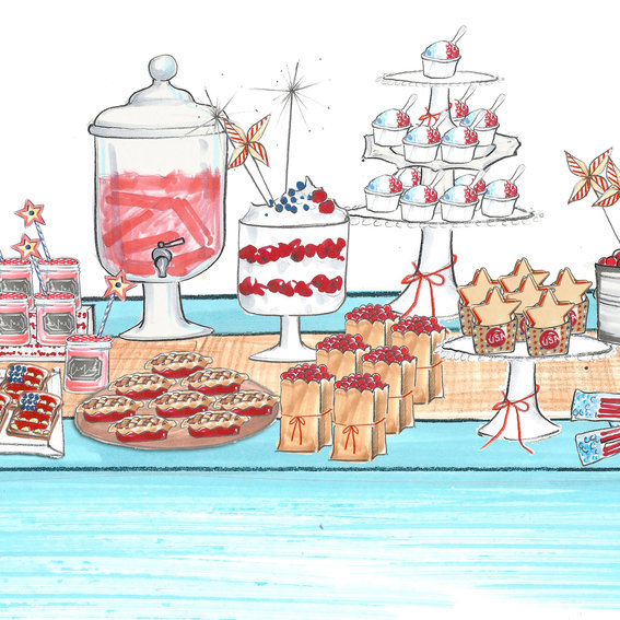 How to Turn Your Desserts Into Décor This July Fourth