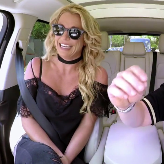 "Watch Britney Spears Sing ""Baby One More Time"" in Costume on Carpool Karaoke"