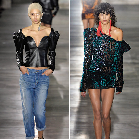 Designer Anthony Vaccarello Introduces a Sexy New Saint Laurent at Paris Fashion Week