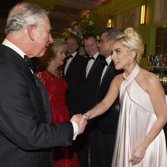 Lady Gaga Is the Picture of Elegance Meeting Prince Charles in London