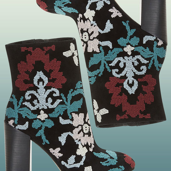 On Sale Now! Score These Embroidered Booties at Half the Price