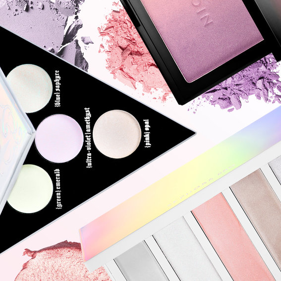 These Are the Coolest Highlighting Palettes Right Now
