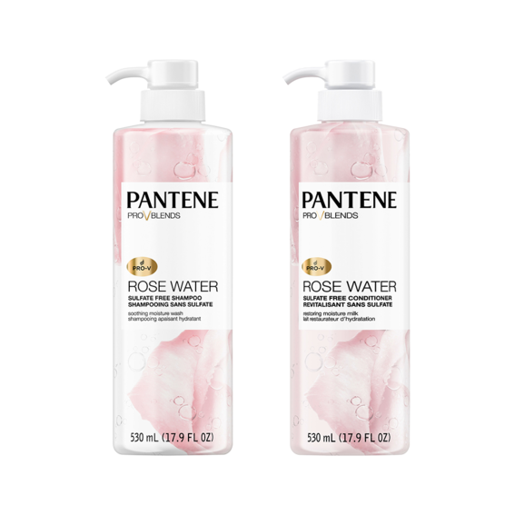 Pantene Pro-V Blends Rose Water Sulfate Free Shampoo & Conditioner