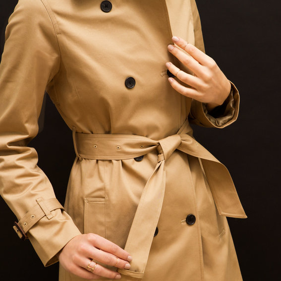 How to Tie a Trench Coat—Front and Back
