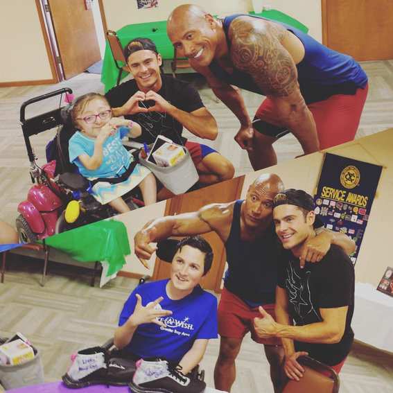 Zac Efron and The Rock Grant Two Children the Wish of a Lifetime