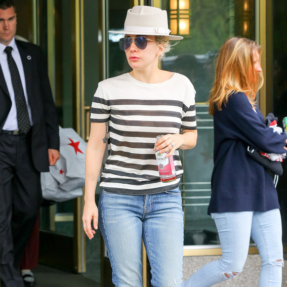 Lady Gaga in Just Jeans and a T-Shirt? Yes, It Happened