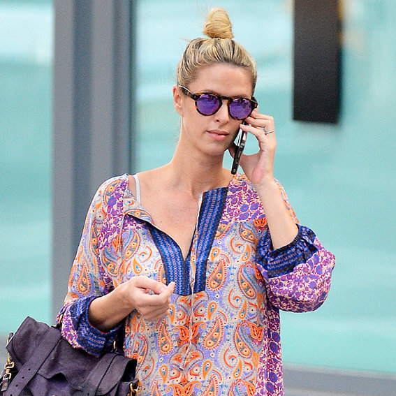 Nicky Hilton Steps Out in Adorable Jean Shorts Weeks After Giving Birth