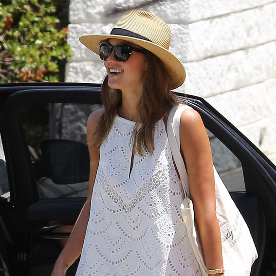 Jessica Alba Wore the Perfect White Sundress—Shop It Here