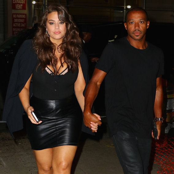 Ashley Graham Is a Bombshell in Black Leather on Date Night with Her Husband