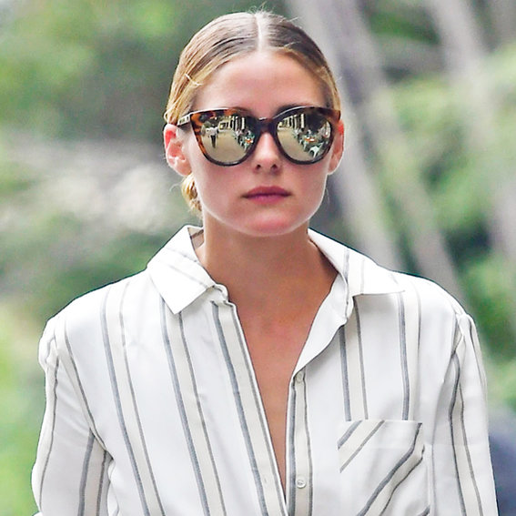 Olivia Palermo Stuns in a Summery, Striped Dress Post-Vacation in N.Y.C.