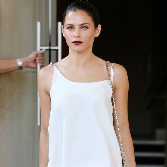 Jenna Dewan Tatum Shows Off Her Sculpted Gams in Thigh-High Boots and a White Minidress
