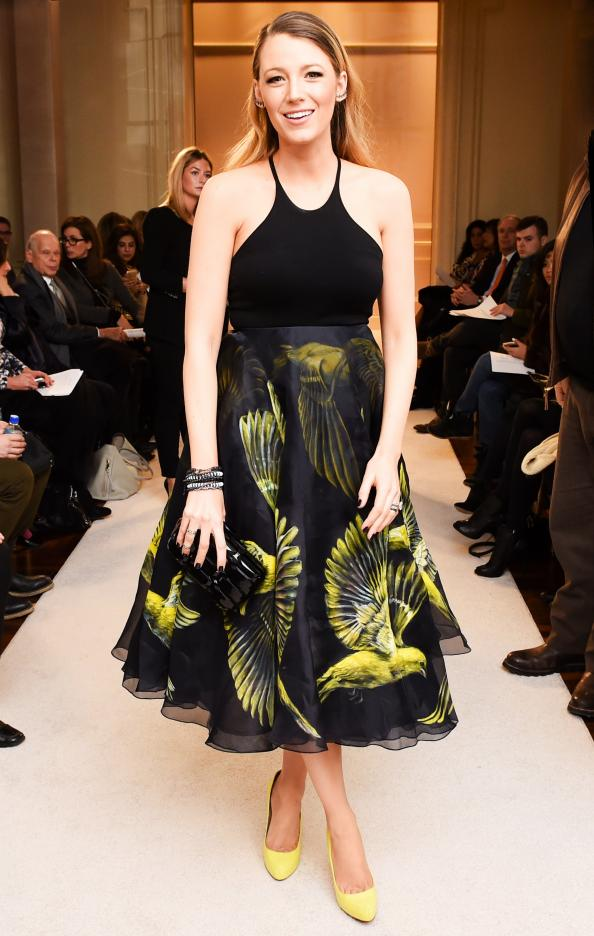 Blake Lively Looks #Flawless in the Front Row at Marchesa's NYFW Runway Show