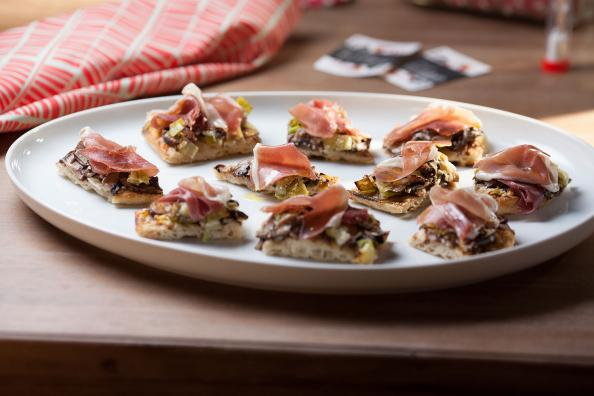 Mushroom, Leek and Prosciutto Pizza