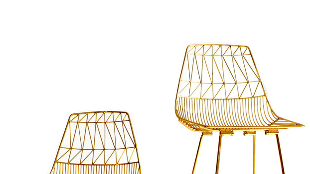 Bend Furniture Guilded Wire Chairs Review   InStyle.com