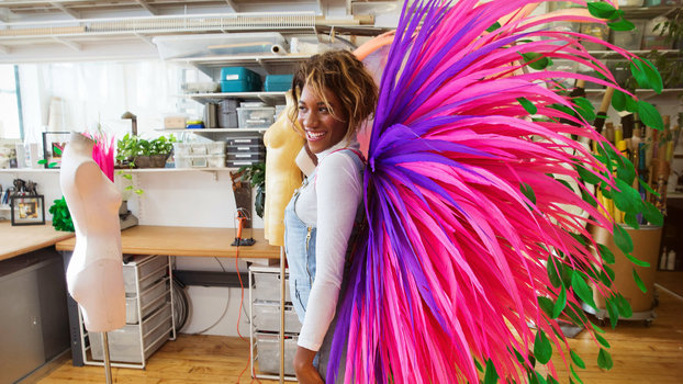 Instyle Editor Tries On Victoria 39 S Secret Angel Wings