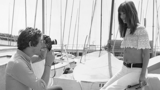 French singer, actor and director Serge Gainsbourg (1928 - 1991) photographs English actress Jane Birkin at the Cannes Film Festival, 19th May 1969. (Photo by Archive Photos/Getty Images)