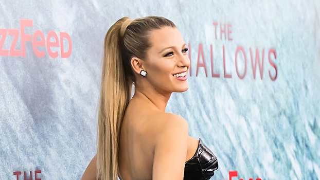 Pregnant Blake Lively Stuns In A Bustier Style Dress At
