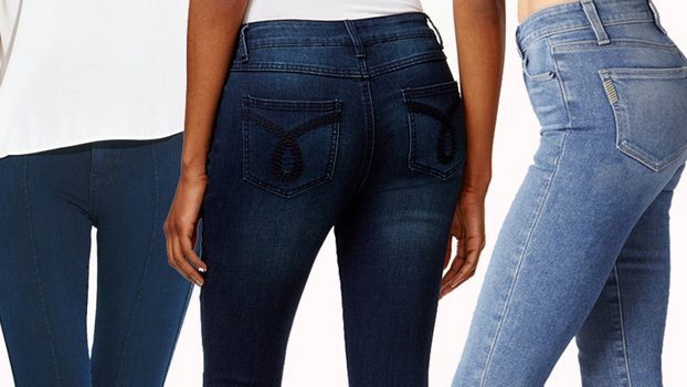 Skinny jeans for wide hips and skinny legs