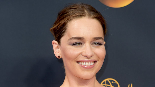 Emilia Clarke arrives at the 68th Primetime Emmy Awards on Sunday, Sept. 18, 2016, at the Microsoft Theater in Los Angeles. (Photo by Richard Shotwell/Invision/AP)