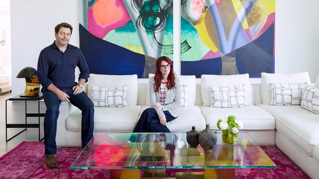 inside nick offerman and megan mullallys hollywood home