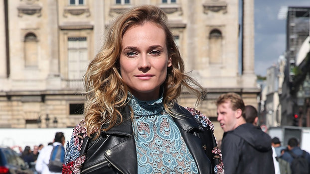 Diane Kruger Sits Front Row At Elie Saabs PFW Runway Show