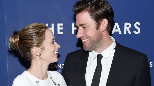 "NEW YORK, NY - AUGUST 18:  Emily Blunt and John Krasinski attend ""The Hollars"" New York Screening at Cinepolis Chelsea on August 18, 2016 in New York City.  (Photo by Dimitrios Kambouris/Getty Images)"