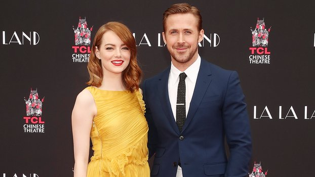 LOS ANGELES, CA - DECEMBER 07:  Emma Stone and Ryan Gosling are honored with a Hand & Footprint Ceremony at TCL Chinese Theatre on behalf of Lionsgate's LA LA LAND on December 7, 2016 in Los Angeles, California.  (Photo by Todd Williamson/Getty Images for
