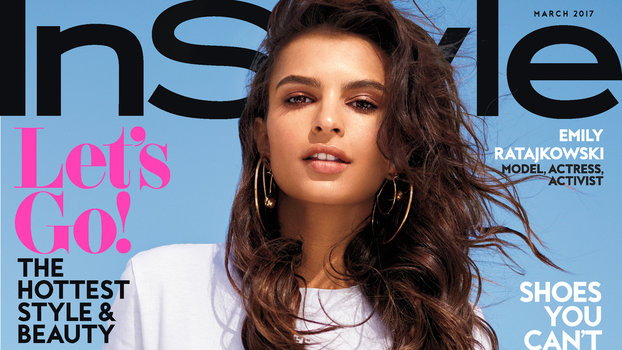 in style magazine hair how to get emily ratajkowski s hair look from instyle s 3828