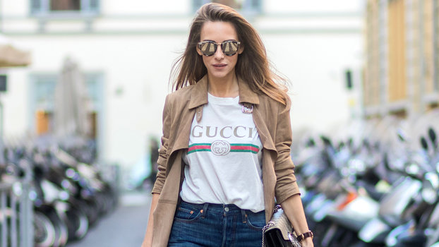 ba7270d107d0 The Gucci T-Shirt Everyone Is Wearing at Fashion Week | InStyle.com