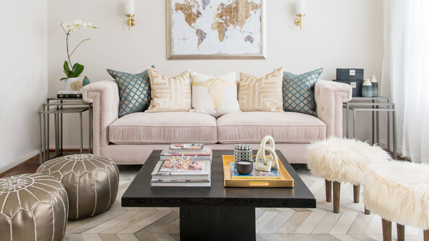 Get the Look: A Beauty Blogger's Glam Living Space
