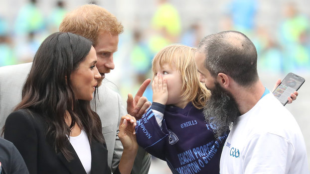 Meghan and Harry with a kid lead