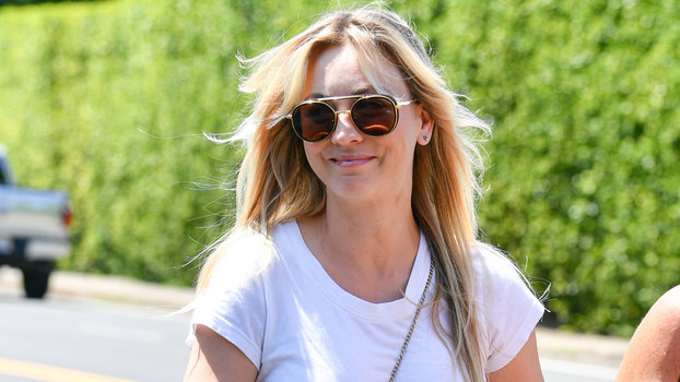 Kaley Cuoco Has Found the Best Non-See-Through White T-Shirt