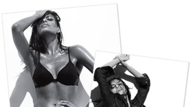 Eva Mendes Works The Wet Look For Calvin Klein Jeans