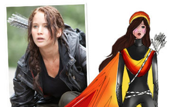 Fashion Designers Sketch Katniss's Fire Dress!