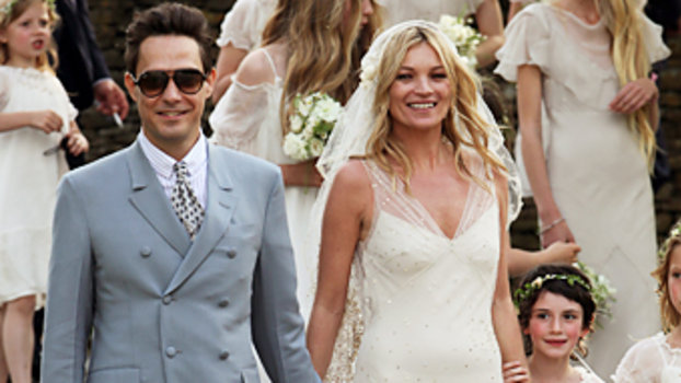 Kate Moss Wedding -- Wedding Gown -- John Galliano | InStyle.com