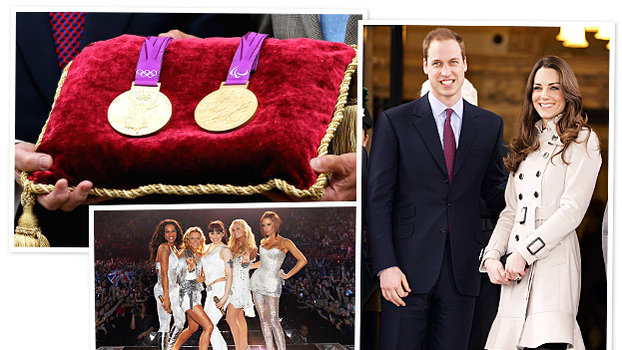2012 Olympics, Spice Girls, Olympic Medals, Prince William, Kate Middleton