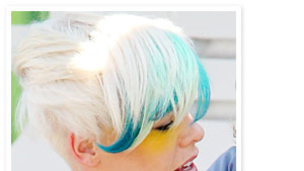 Pinks Hair Style: Pink's Hair Is Turquoise Now: Do You Like The Look