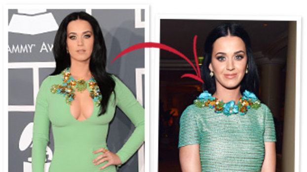 Guess What Katy Perry Changed Out Of Her Green Grammys Dress After The Show