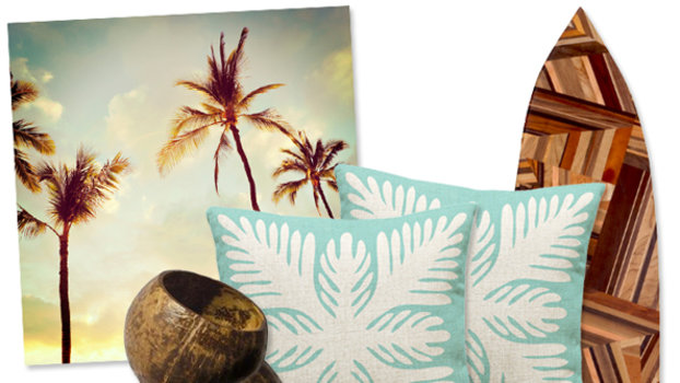 Surf 39 s up the hawaii home decor trend heats up for Hawaiian home decorations