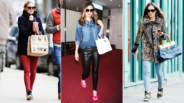 The 17 Celebrities Who Are Kicking It In Stylish Sneakers