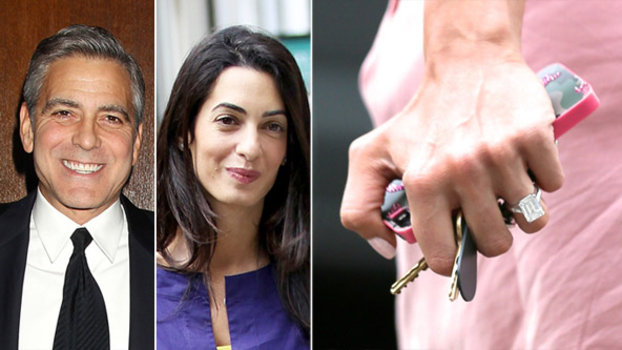 See Amal Alamuddin S Engagement Ring From George Clooney
