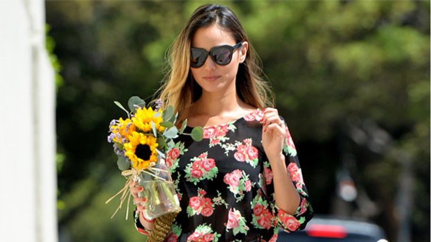 Jamie Chung in Guess and Loeffler Randall