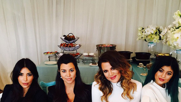Kourtney Kardashian Celebrates Her Baby Shower Instyle