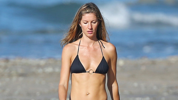 Gisele Bundchen & Her Sister Step Out in Matching Bikinis ...