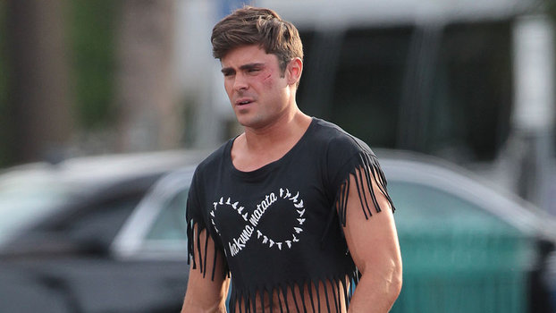Zac Efron Wears A Crop Top On The Set Of His Next Movie Instylecom