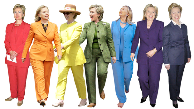 See Hillary Clinton 39 S Colorful Pantsuits