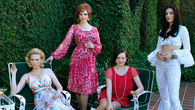 Mad Men Season 7b Press Kit pic - Betty, Megan, Peggy and Joan