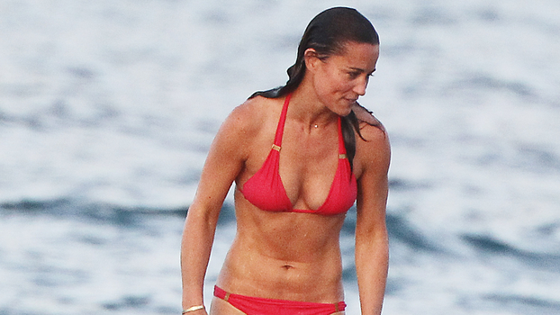 Pippa Middleton Wears Red Bikini In St Barts Instyle Com